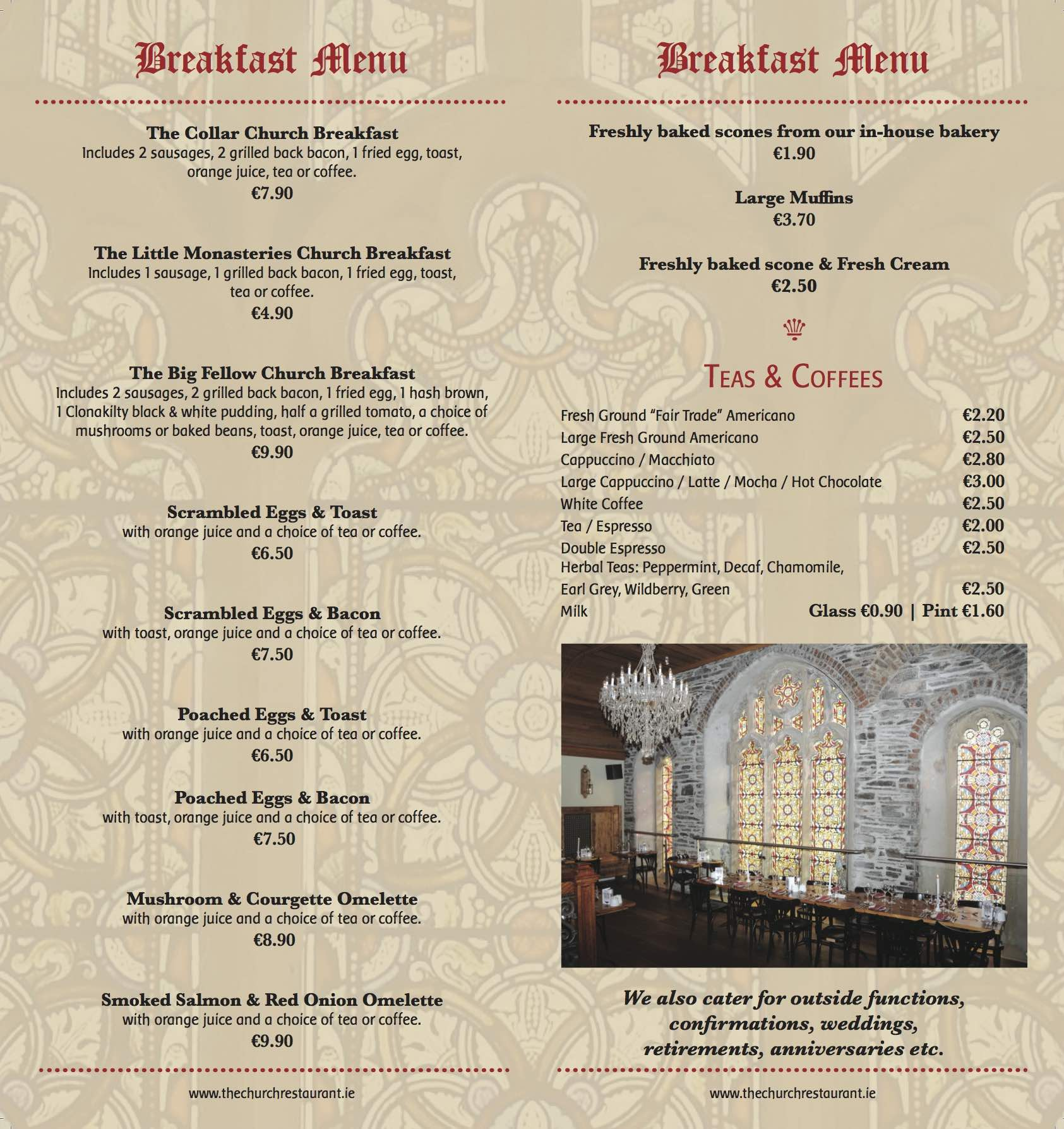 Breakfast Menu LR