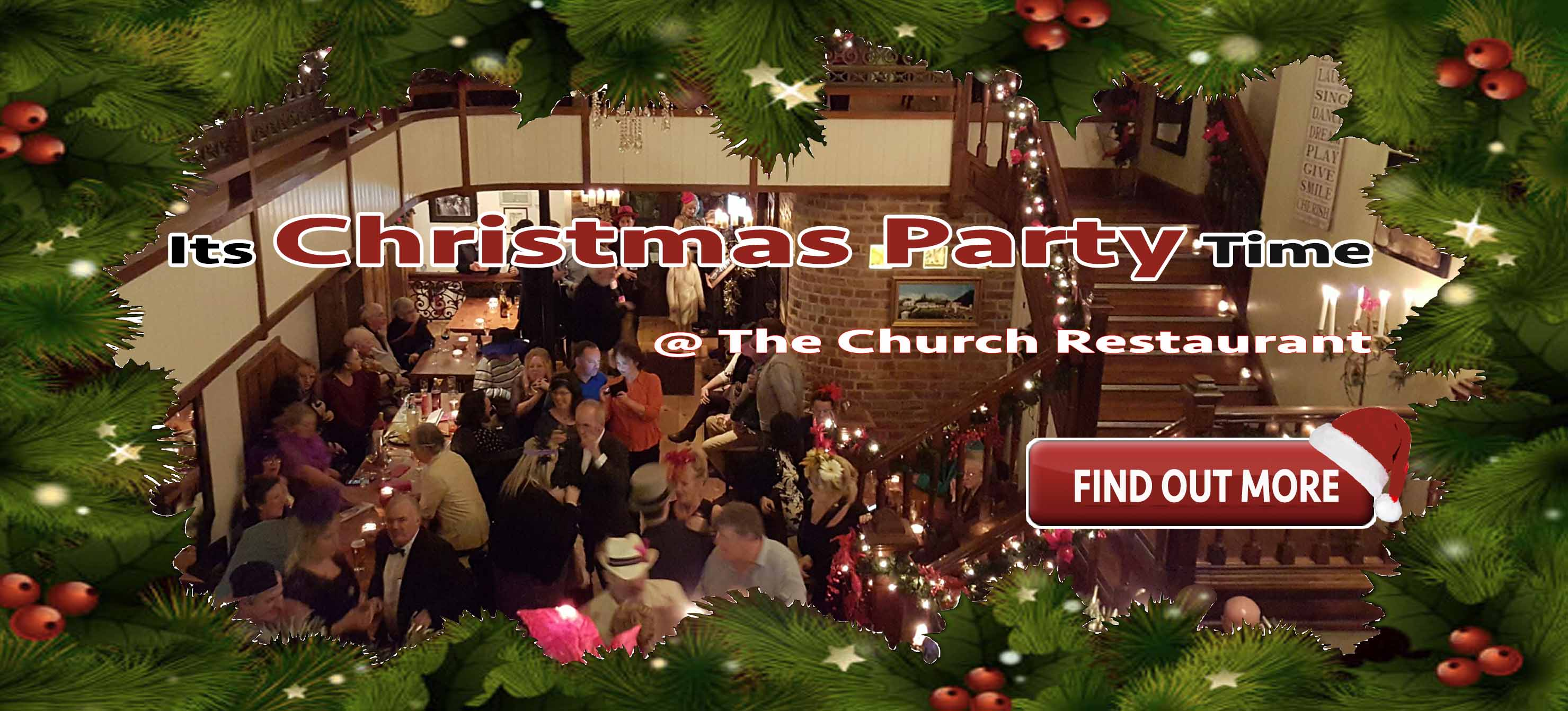 christmas party at the churchFOM